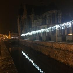 L' église St sulpice de nogent le roi à Noël